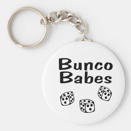 Bunco Babes Basic Round Button Keychain