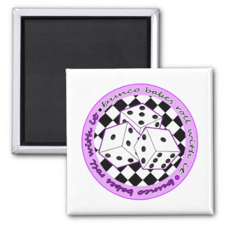 Bunco Babes Roll With It - Purple Magnet