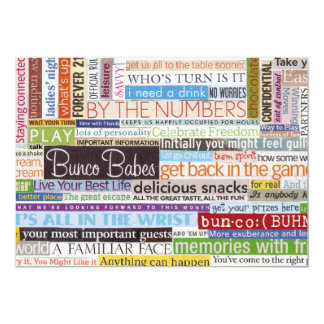 Bunco Card