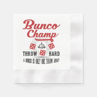 Bunco Champ Party Napkins Disposable Napkins