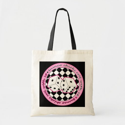 Bunco Chicks Roll With It - Pink Tote Bags