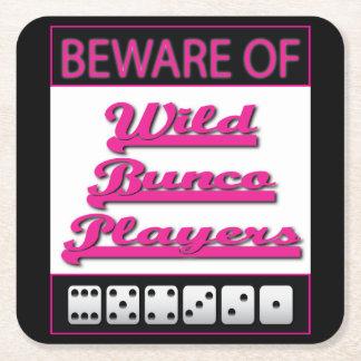 Bunco Coasters - Beware of Wild Bunco Players