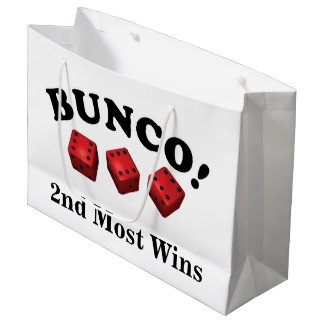 Bunco Dice Gift 2nd Most Wins Large Gift Bag