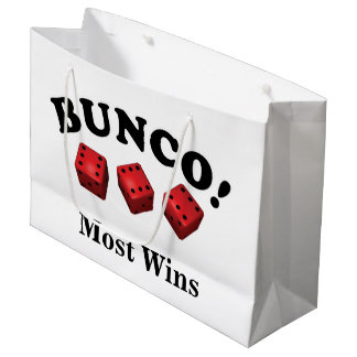 Bunco Dice Gift Most Wins Large Gift Bag