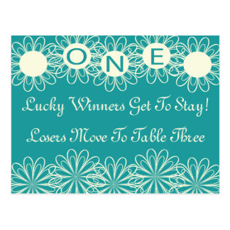 Bunco Flowers Table Card #1