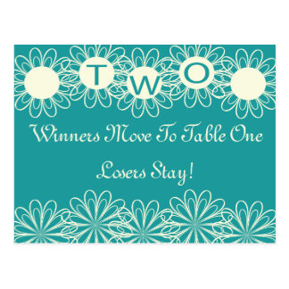 Bunco Flowers Table Card #2