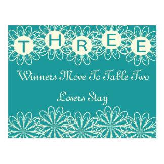 Bunco Flowers Table Card #3