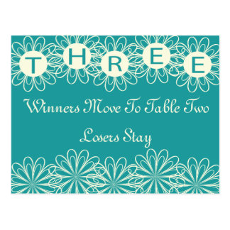 Bunco Flowers Table Card #3 Postcard