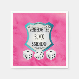 Bunco Fundraiser Pretty Pink Dice Party Napkins Disposable Napkin