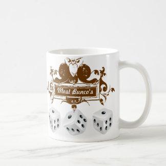 bunco game design mugs