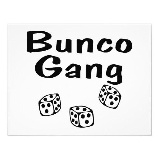 Bunco Gang Invitations