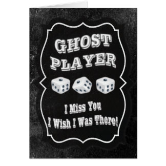 Bunco Ghost Player Cards