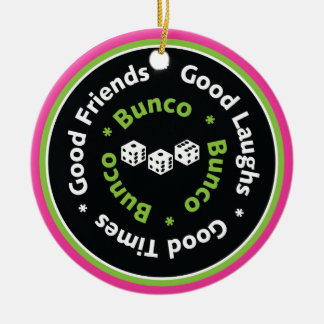bunco good friends ceramic ornament