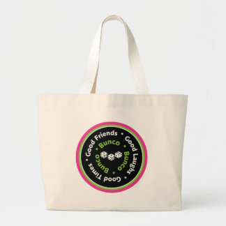 bunco good friends large tote bag