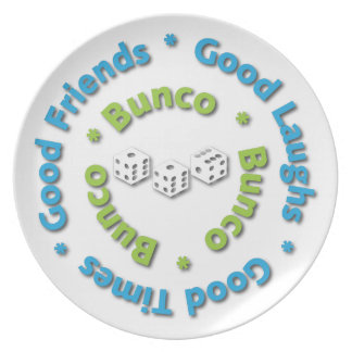 Bunco Good Friends Plate