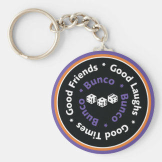 Bunco Good Friends - Purple Basic Round Button Keychain
