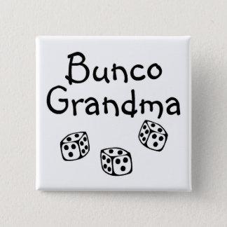 Bunco Grandma 2 Inch Square Button
