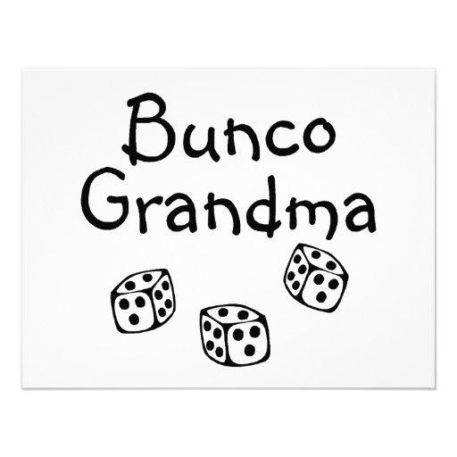 Bunco Grandma Personalized Announcement