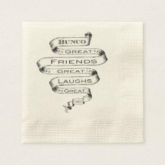 Bunco Great Friends Disposable Napkin