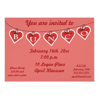 Bunco Heart Banner Invitation