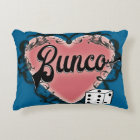 bunco heart tattoo decorative pillow