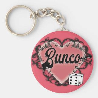 bunco heart tattoo keychain