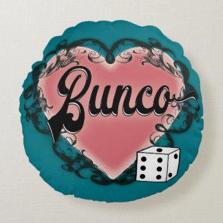 bunco heart tattoo round pillow