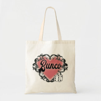 bunco heart tattoo tote bag