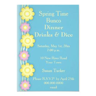Bunco Invite Colorful flowers