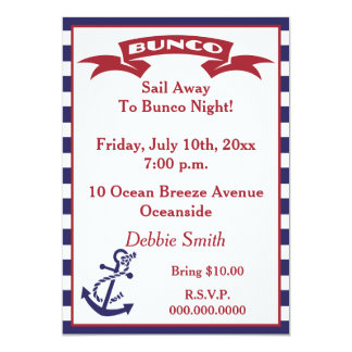 Bunco Invite - Red, White and Blue