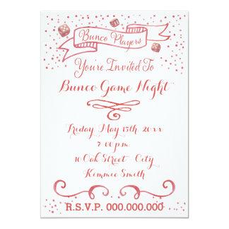 Bunco Invite - Ribbon and Dice