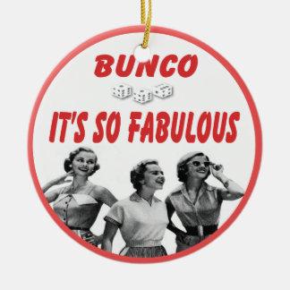 bunco it's so fabulous ceramic ornament