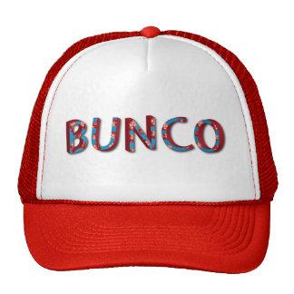 Bunco letters with bunco dice trucker hat