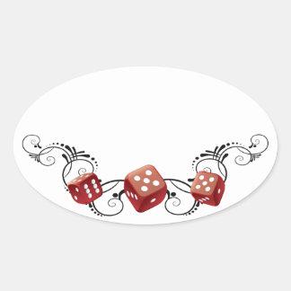 Bunco Name Tag Oval Sticker