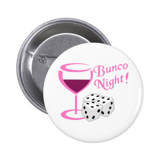 Bunco Night 2 Inch Round Button