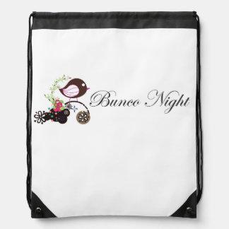 Bunco Night Bag Drawstring Bags