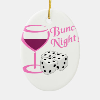 Bunco Night Ceramic Oval Ornament