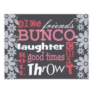 Bunco  Night Pretty Flowers Invite