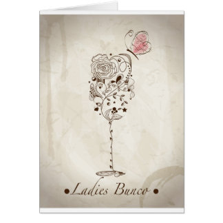 Bunco Night Products Greeting Card