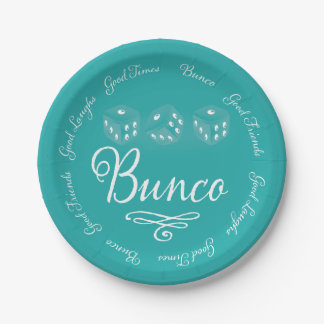 Bunco Paper Plates