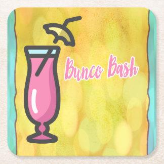 Bunco Pink Drink Bunco Bash Coaster