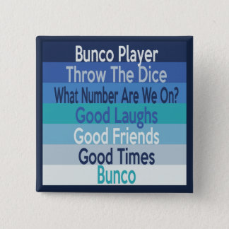 Bunco Player Modern Stripe Design 2 Inch Square Button