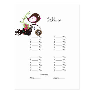 Bunco Post Card Invitation