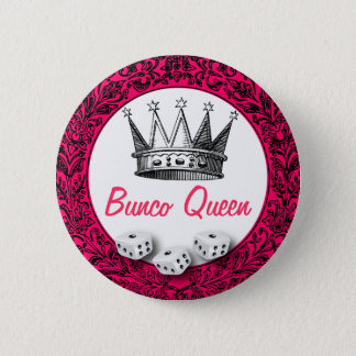 Bunco Queen Classic Design 2 Inch Round Button