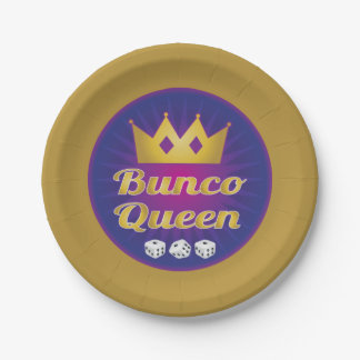 Bunco Queen Crown and Dice Paper Plate