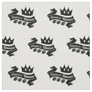 Bunco Queen Crown and Dice Ribbon Fabric