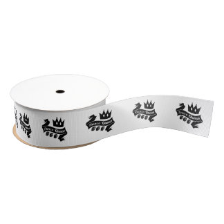 Bunco Queen Crown and Dice Ribbon Grosgrain Ribbon