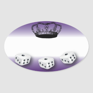 Bunco Queen Name Tag Oval Sticker