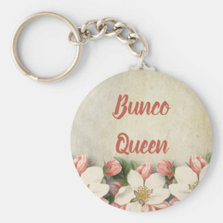 Bunco Queen Vintage Flower Garden Keychain
