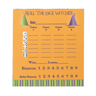 Bunco Score Pad = Halloween